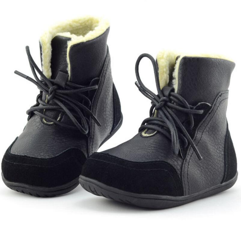 2016 Autumn Winter Designer Children Boots/Shoes Boys Girls Shoes Kids Boots Beige Black Yellow - Guangzhou store