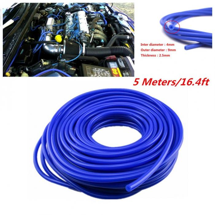 Auto Car Universal Blue 3mm Silicone Vacuum Tube Hose Silicon Tubing 16.4ft 5M