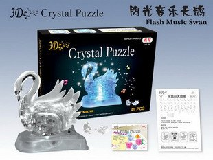 DIY toys, adult novelty toys, 3D Crystal Puzzle, Educational toy,Wholesale and Retail(China (Mainland))