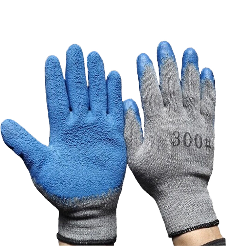 10 Gauge Cotton Coating Latex Wrinkle Glove Transportation Protective Industrial Glove(China (Mainland))
