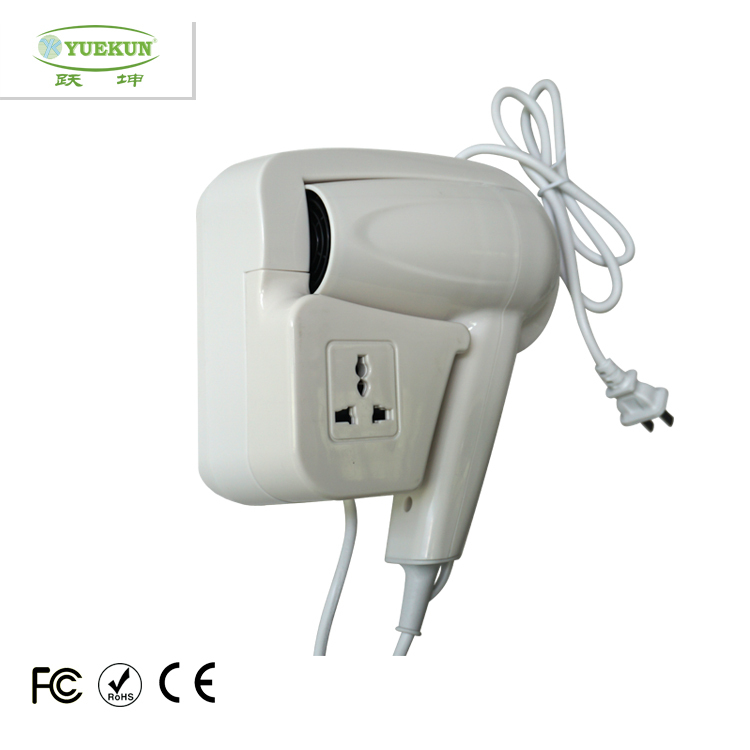 Free Shippiing CE ROHS CCC Certification 1200W Wall Mounted Hotel Hair Dryer 220V Warm Air High Quality 3 Years Warranty(China (Mainland))
