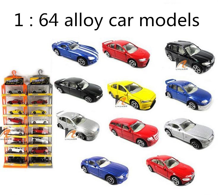 Classic toys! 1:64 alloy car toy model,Sliding car random mixed,8 pieces lot , intellectual toys,Free shipping(China (Mainland))