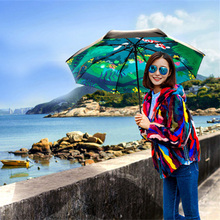 Buy Pastoral Carp Umbrella Female anti uv umbrella Parapluies Non-Automatic Clear Folding Rain Gear/Umbrella Women Green Brand Gift for $29.45 in AliExpress store