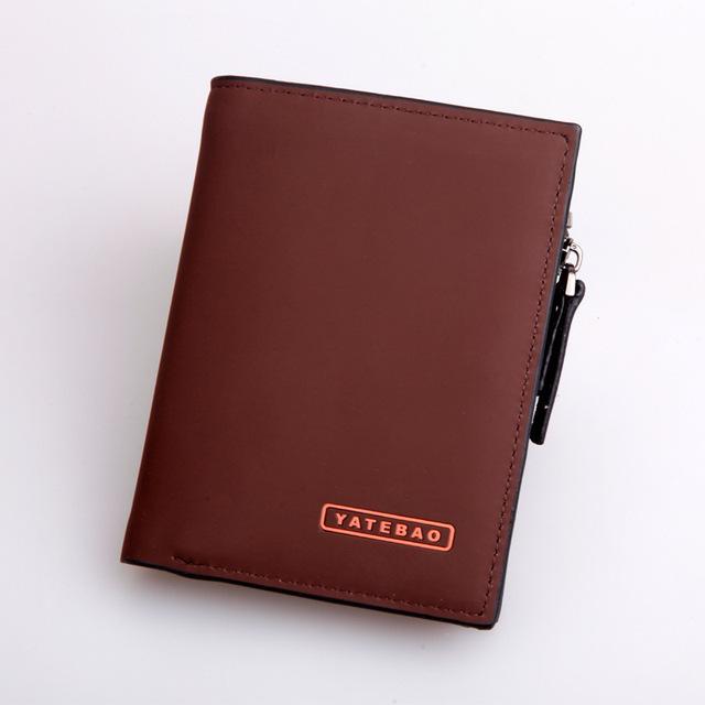 Новое поступление мужчины бизнес молнии кошельки засов короткие дизайнер бумажник ...