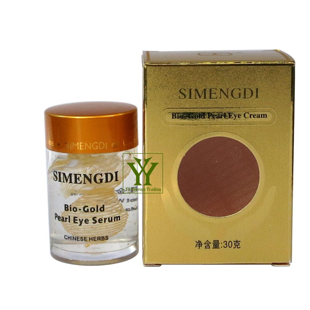 Lady's Simengdi bio-gold Pearl Essence Eye Cream & anti-wrinkles creamwith Chinese herbs Ginseng natural(China (Mainland))