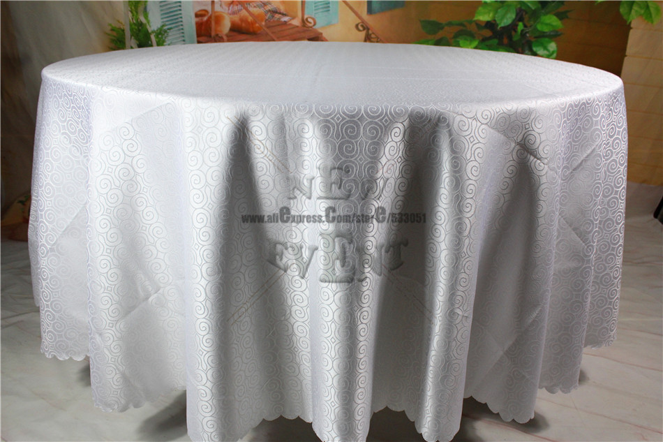 New Design For 2016 White Color Clouds Jacquard Tablecloth/Table Linen For Wedding Party Home Decorations/Wedding Supplies(China (Mainland))