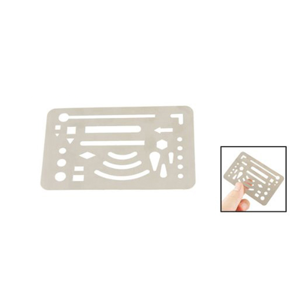 New Hotsale Promotion Stainless Steel 27 Patterns Erasing Drawing Drafting Tool Shield(China (Mainland))