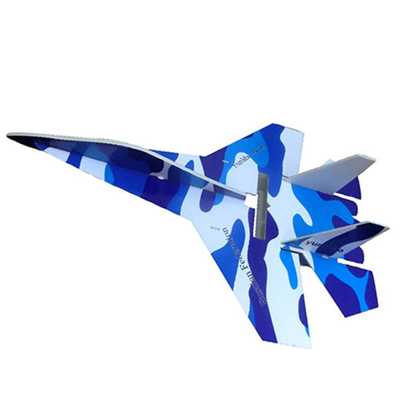1 Piece rc plane su 27 large rc glider fighter jet remote control airplane kt foam rc airplane kits for sale(China (Mainland))
