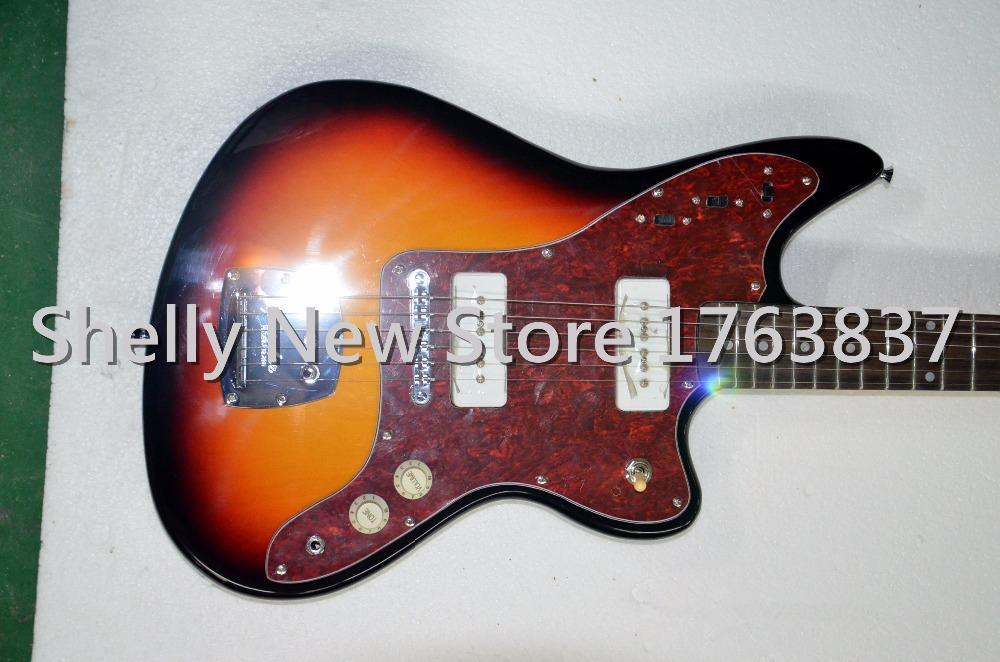 Shelly new store factory custom tobacco burst master China OEM jaguar guitars 6 string electric guitar musical instruments shop(China (Mainland))