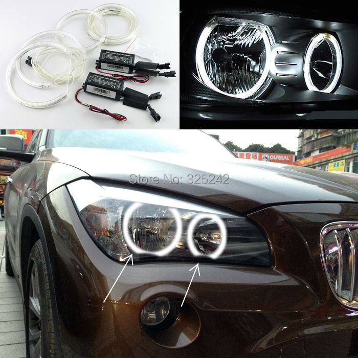 BMW X1 E84 2010 2011 2012 2013 2014 Halogen headlight Excellent CCFL Angel Eyes kit Ultra bright illumination Halo Ring - Geerge-Tech store
