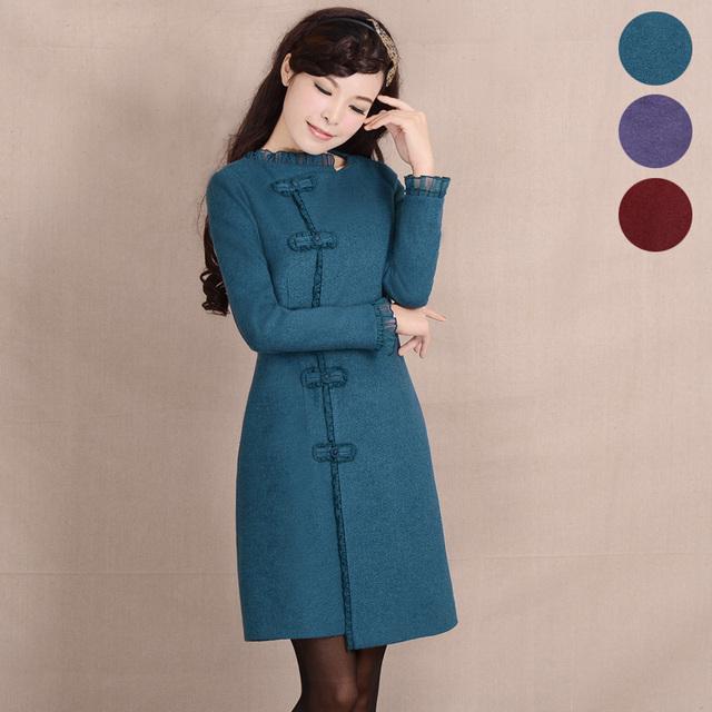 DemonСтиль 2013 женщин элегантный старинных шерстяное пальто верхняя одежда женская ...