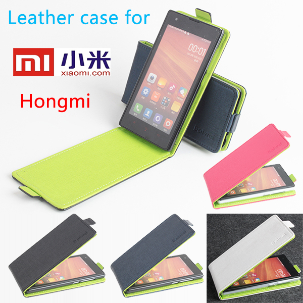 High Quality New Original For Xiaomi Red Rice Leather Green Bottom Case Flip Cover for Xiaomi Red Rice Case Phone Cover In Stock(China (Mainland))