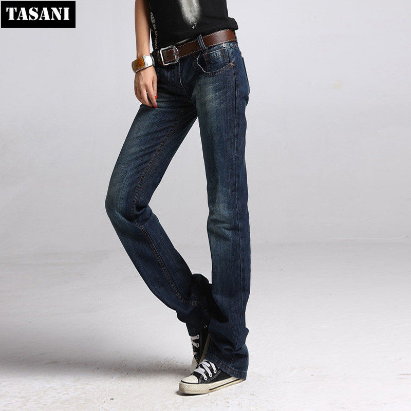 New Fashion Casual Women Jeans Straight Loose Plus Size ...