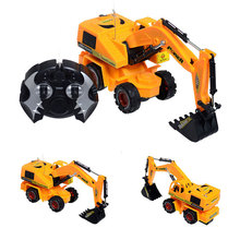 Remote Control Scale Digger Excavator Construction Truck Engineering RC Radio Control Electric Toy Fun Movable Shovel(China (Mainland))