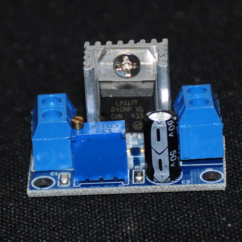 LM317T DC-DC Converters Step Down DC Buck Converter Circuit Board Module Adjustable Linear Voltage Regulator Input 4.2V-40V 1.5A(China (Mainland))