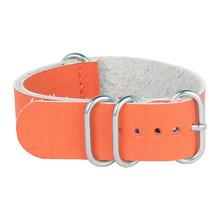 Cuero de la PU naranja 20 mm correas de reloj de la otan banda wach de 20 mm