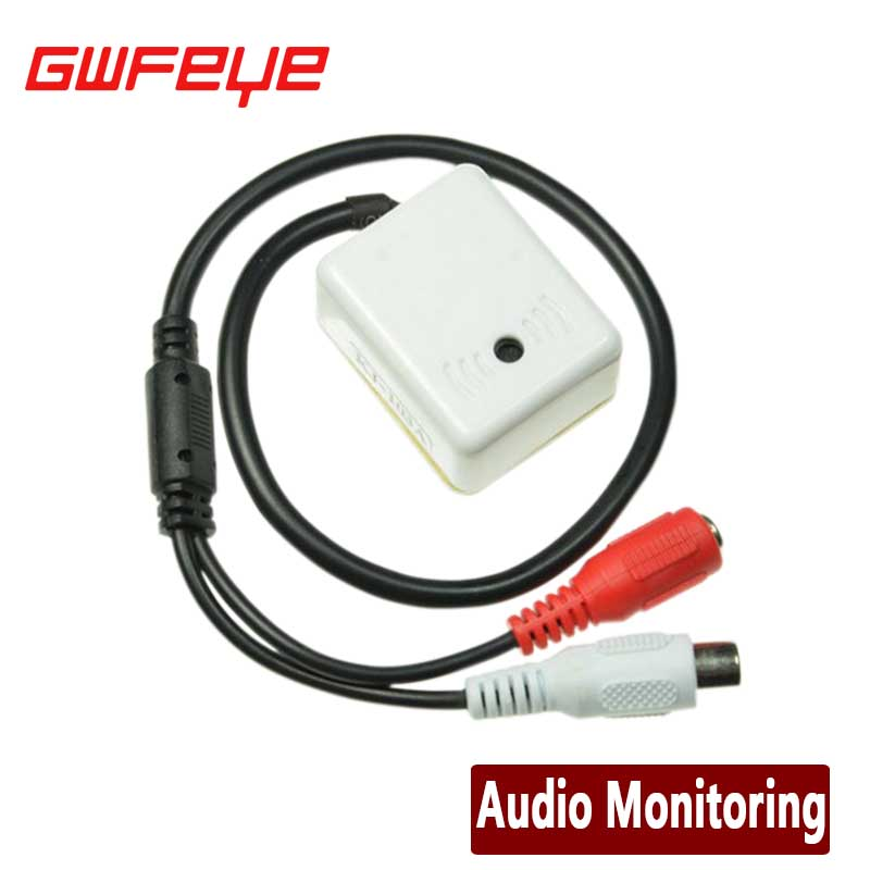 GWFEYE MINI AUDIO CCTV MICROPHONE MIC FOR SECURITY DVR CAMERAS(China (Mainland))