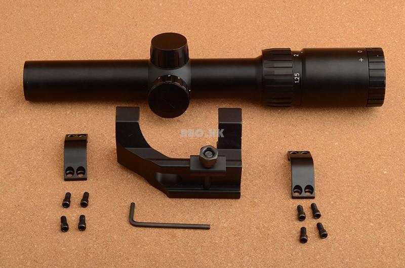 RBO 1.25-5x26 Rifle scope 30mm Scope ring mount Weaver Mount Rifle scope Free Shipping M2048(China (Mainland))