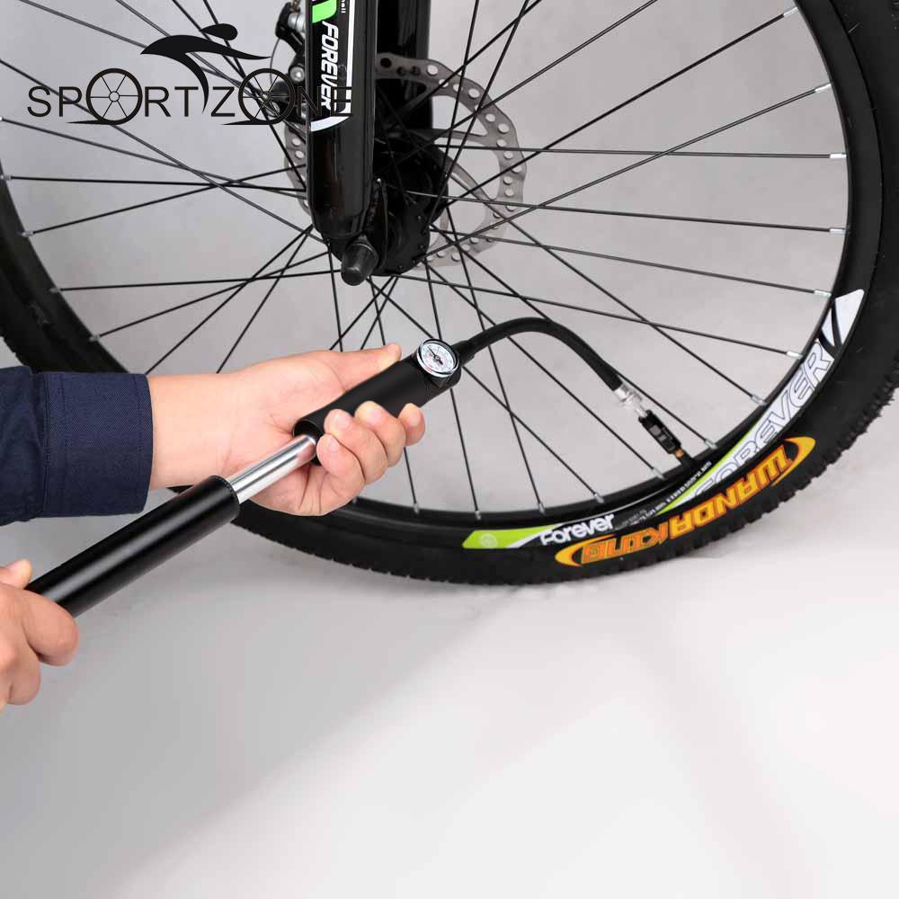 Mini Bike Pump Portable High Pressure Air Pump Double Action Hand Pump Bike Tire Ball Inflator with Pressure Gauge(China (Mainland))