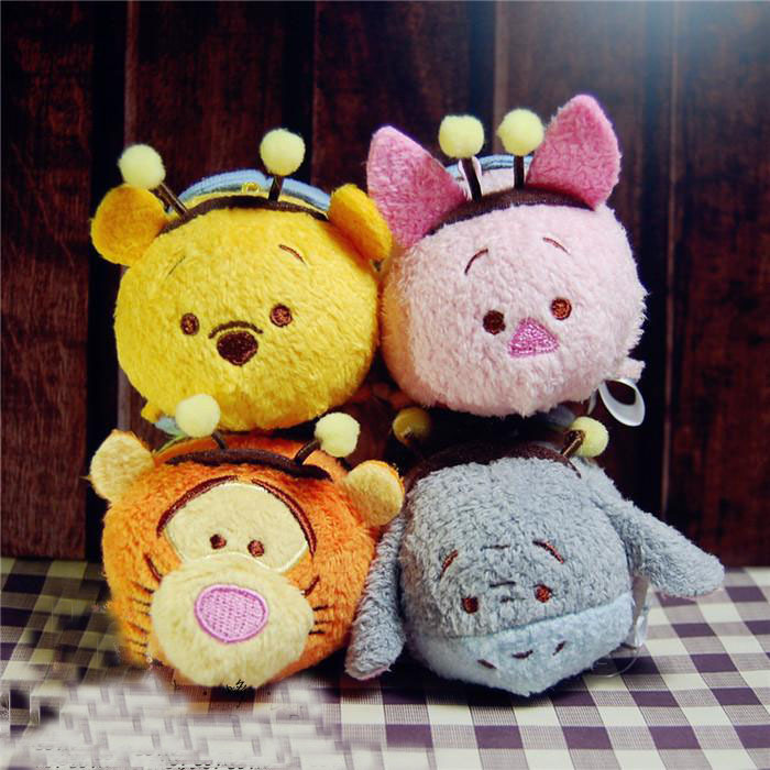 Hot sale TSUM TSUM Plush Toy Candy Tsum Limited Set Tigger Piglet Eeyore Bee Kawaii Phone Screen Cleaner for Phone(China (Mainland))