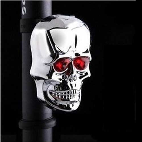 New Fashion bicycle Skull Waterproof Laser light bike taillights bicycle accessories bike Safety Warning Lamp High quality(China (Mainland))