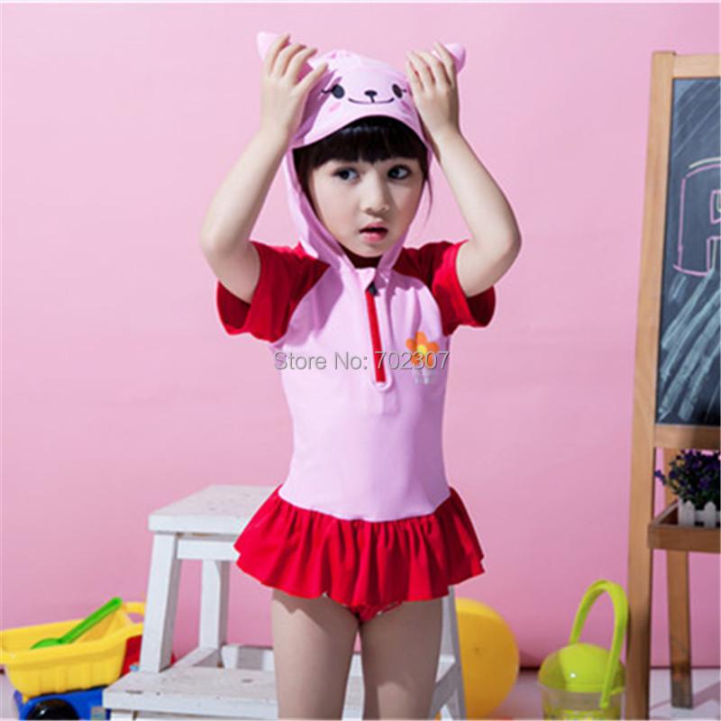 Cute cartoon rabbit baby girl Swimwear children Girl's Suits 5set/lot SM-18