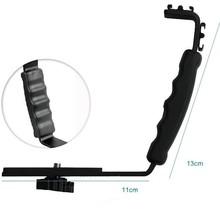 L Bracket Holder Mount 2 Hot Shoe for Mic Microphone Video Light L Bracket Video Dslr Camcorder with Tracking Number