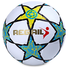 Standard 5 Size Football Fashion Five-pointed Star High Quality PU Football Ball for Younger Teenager Game Durable Soccer Ball(China (Mainland))