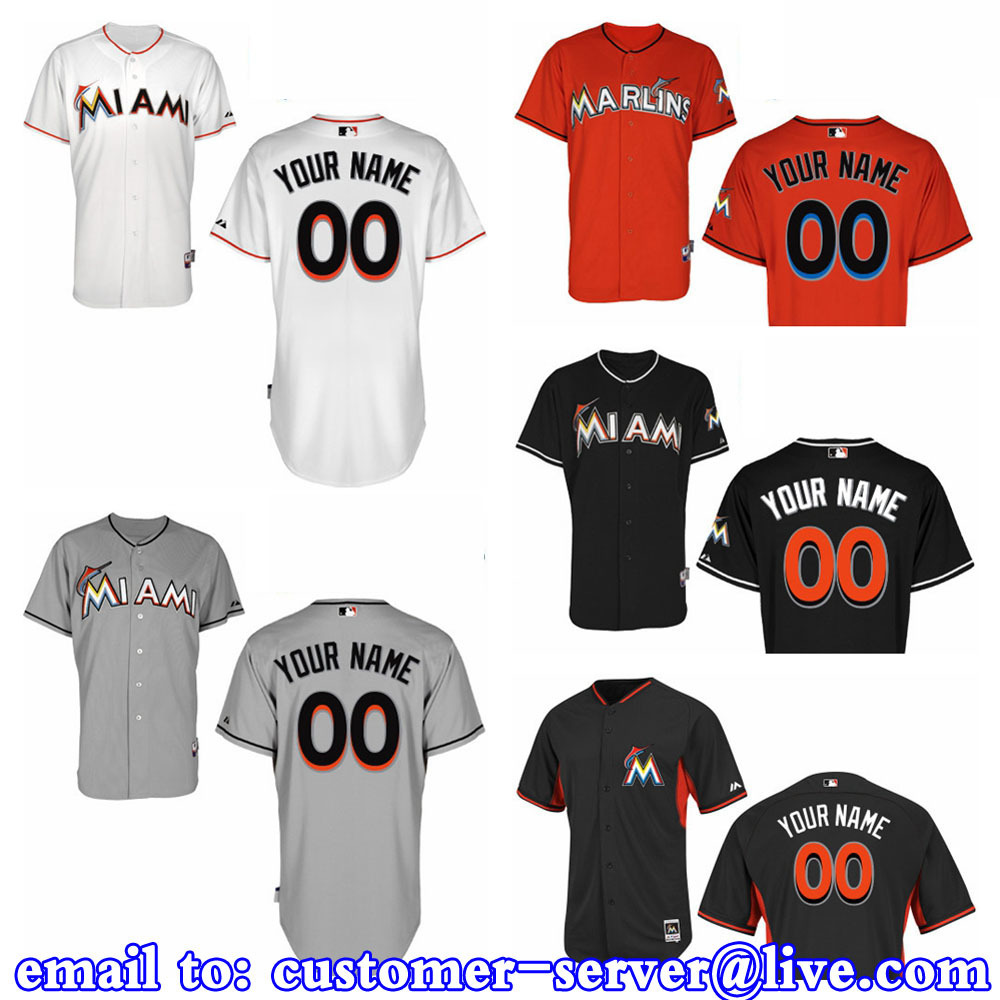 Custom Mens/Womens/Kids Miami Marlins Giancarlo Stanton Baseball Jersey Personalized 2015 New Cool Base Double Stitched On Field(China (Mainland))