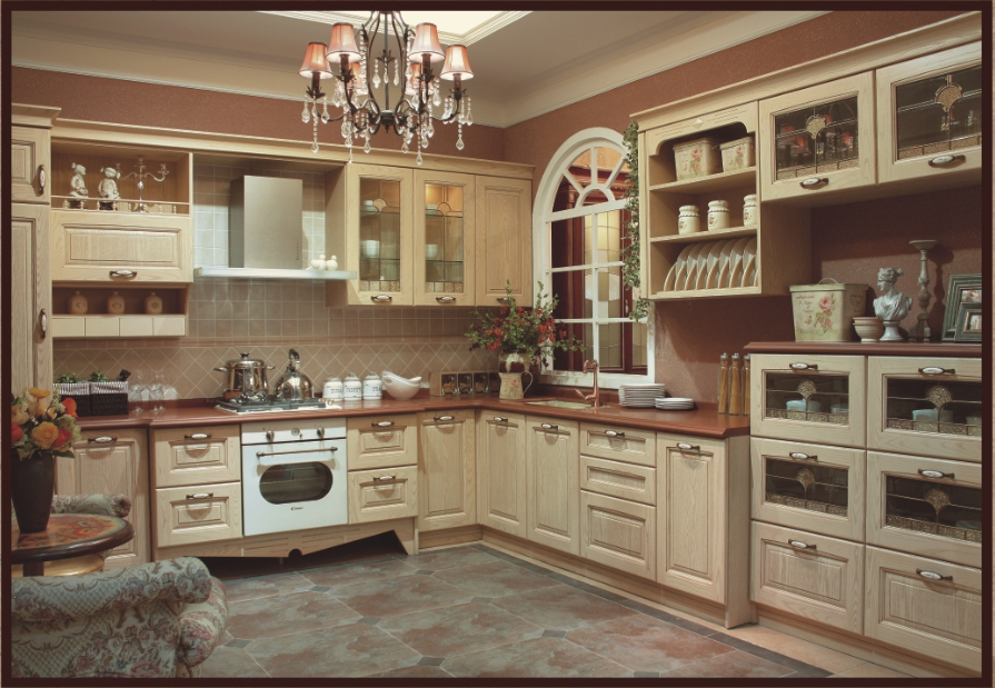 2014 hot sales module kitchen cabinet luxury integrated for Quality kitchen cabinets
