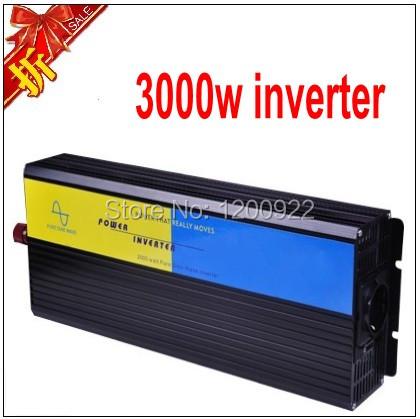 3000W PURE SINE WAVE INVERTER (12V OR 24V OR 48VDC 220VAC 230V OR 110VAC 6KW PEAKING),DC To AC inverter(China (Mainland))