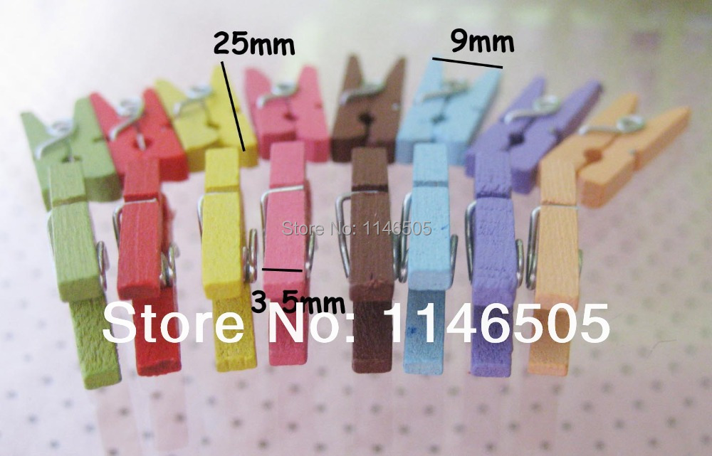 Book clips 25mm jewelry cilps mixed colors 200pcs wooden clips for kids hair ornament accessories(China (Mainland))