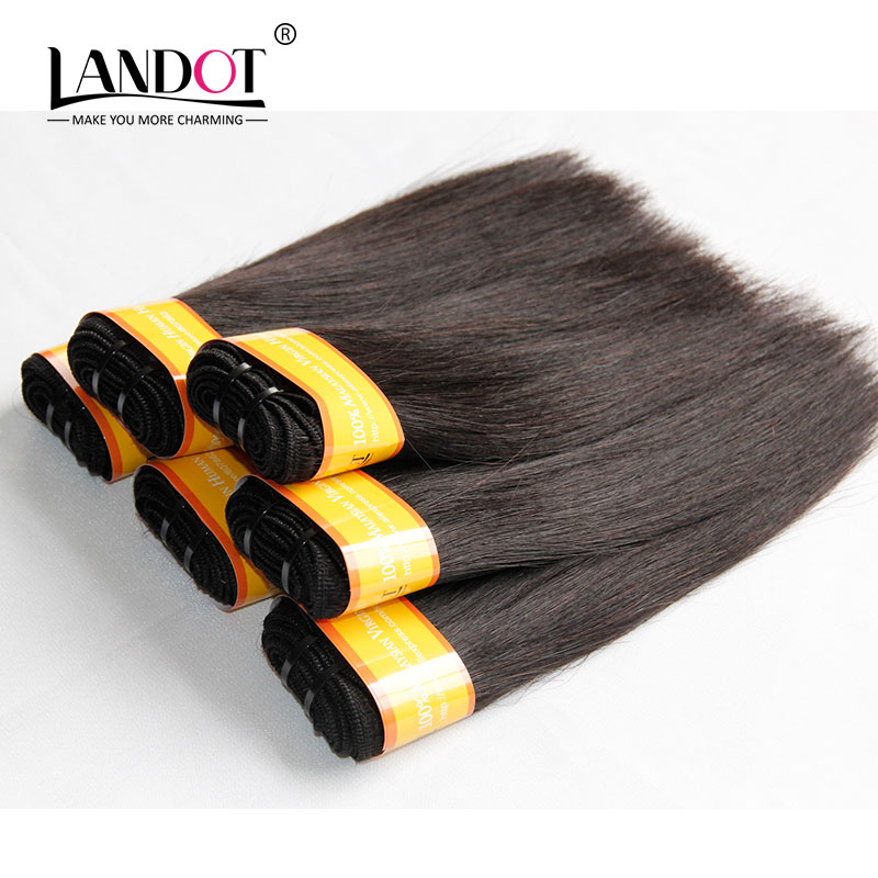 Malaysian Virgin Hair Straight Cheap Human Hair Weave 300g/Lot Natural Black Malaysian Human Hair Extensions Landot Hair Product(China (Mainland))