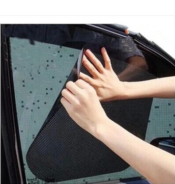 63*42cm big size car automatically retractable curtains sunscreen sun block automatic blinds, car sunshade sticker(China (Mainland))