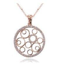 2015 New Arrival Multi Circles Fashion Rhinestone Necklace Jewellery 10pcs/lot Free Shipping(China (Mainland))