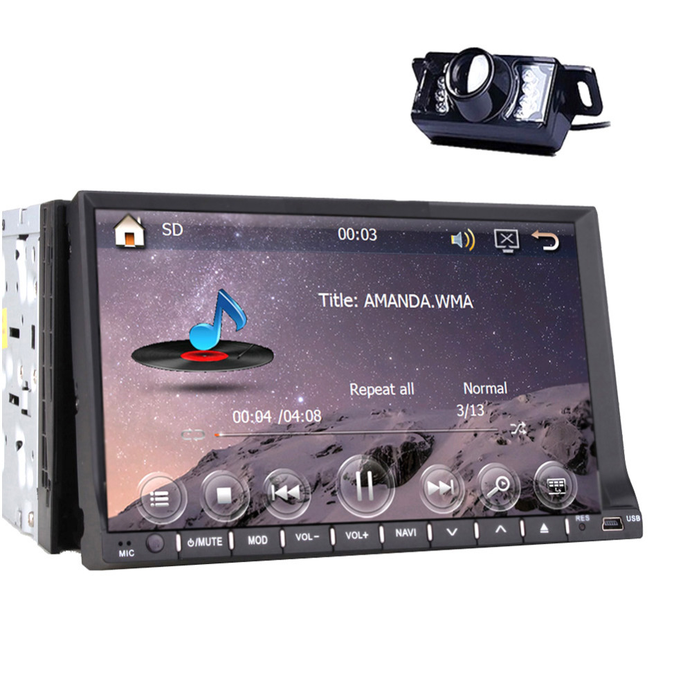 """Double Din In Dash Navigation 7"""" Car DVD Player TouchScreen MP3 Radio In Dash Stereo USB/SD+Camera Bluetooth(China (Mainland))"""