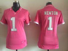 Women ladies all stitched PINK love Carolina Panthers #1 Cam Newton 59 Luke Kuechly #88 Greg Olsen(China (Mainland))