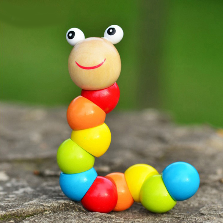 Cute Twist Wooden Toys Juguetes Littlest Pet Carpenterworm Baby Creative Educational toys kids toys insect dolls GYH(China (Mainland))