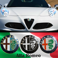 74mm Car styling Specials Color for ALFA ROMEO red cross Logo emblem Badge sticker for Mito 147 156 159 166(China (Mainland))