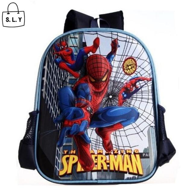 Дети ранцы 3d-паук мультфильм школьного рюкзака мешок для мальчик дети ранец Mochila ...