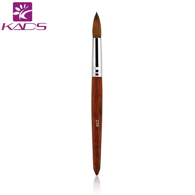 2016 22# professional 100% Kolinsky Sable brushes nail tools Acrylic red wood art nail brush for Manicure natural nail brush(China (Mainland))