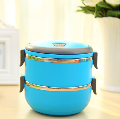 Homio Double Layer Stainless Steel Vacuum Lunch Box Kids 1.4L Keep Warm Food Container For School Office Bento Boxes(China (Mainland))