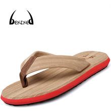 [bexzxed]Summer New Men Leisure Slipper Flip Flops EU Size 40-44 Best Price Cheap Man Beach Shoes Casual Sandals Brown Grey