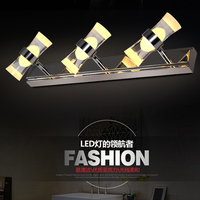 led mirror light 6w Stainless Steel bathroom wall lamp vanity wall lights for home bedroom led modern mount lamp(China (Mainland))