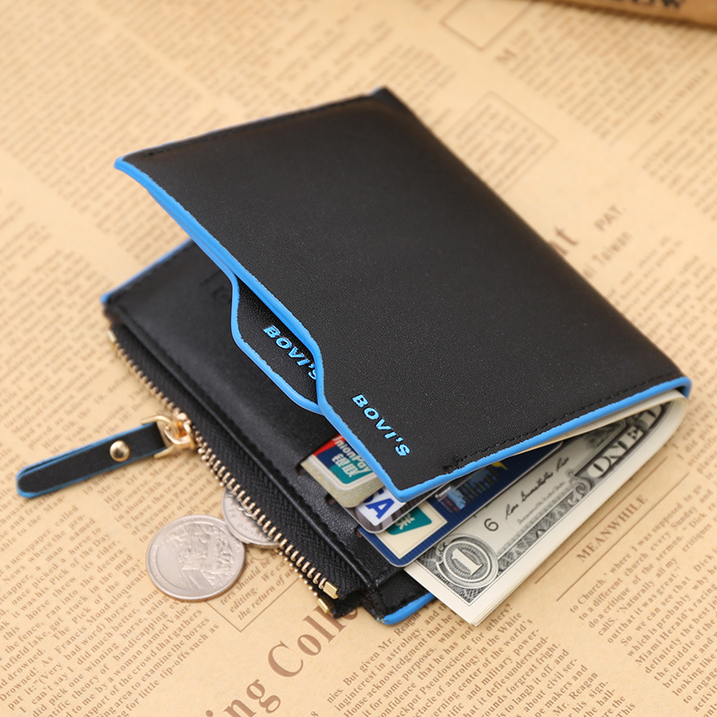 2016 Fashion Luxury Brand Men Wallets Faux Leather Bifold Small Short Wallet Purse Pocket for Money Coin ID Credit Card Holder(China (Mainland))