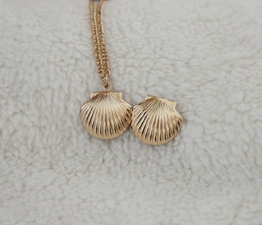 A nova exquisite shell colar pode abrir LM-N178 fábrica de jóias criativo(China (Mainland))