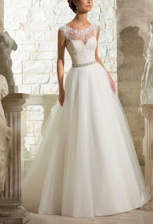 Vestidos de novia sexy see through back wedding dress for Wedding dress with see through back