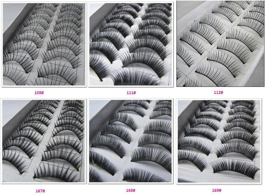 60 Pairs different shape Makeup Soft False Eyelashes Eye Lashes  Freeshipping
