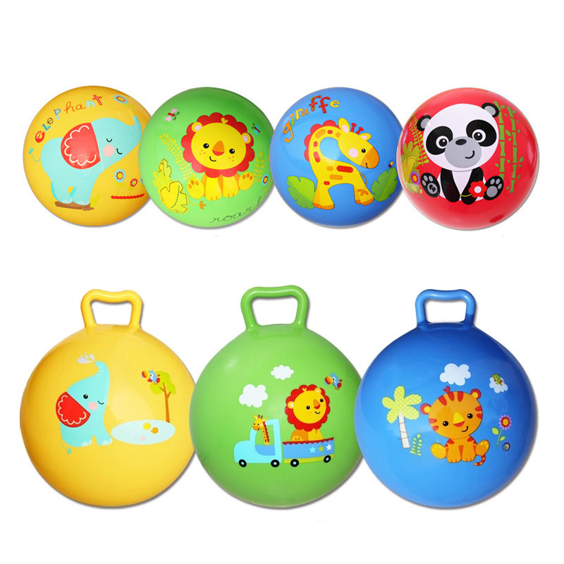1pc Inflatable Bouncing Ball Sport Toy Colorful Cartoon Animal Educational Toy Ball for Baby Ball Toy