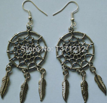Wholesale Fashion  Tibetan Dreamcatcher Charms Dangle Earrings For Women With Gift Box DIY Jewelry A947(China (Mainland))